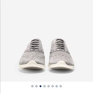 Grey suede Cole Haan zerogrand sneakers